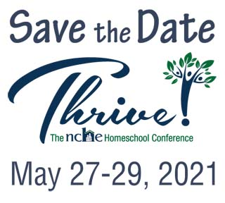 Thrive! Homeschool Conference Save the Date - May 27-29, 2021